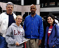 Nick with LMU Student Volunteers